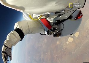Felix Baumgartner Space Dive  / Copyright National Geographic