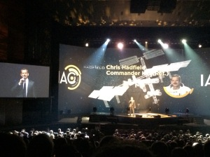 Chris Hadfield speaking at IAC 2014 Opening Ceremony