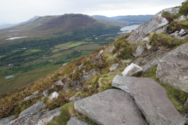 Distant view of Kylemore Abbey